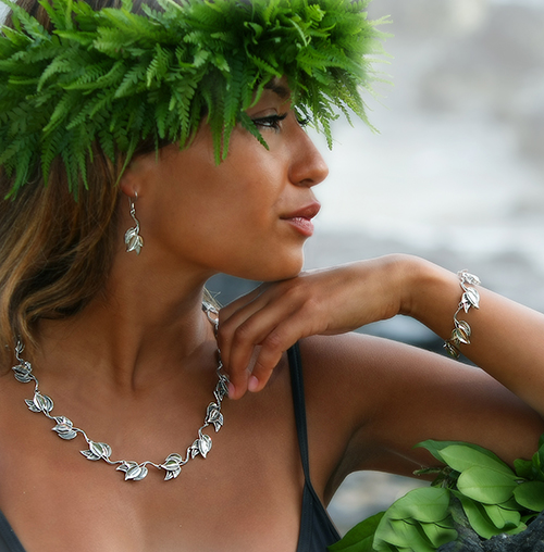 Hawaiian Maile Leaf Jewelry